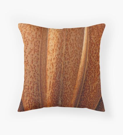 Copper Dust Throw Pillow