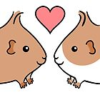 Guinea-pig Sweethearts by zoel
