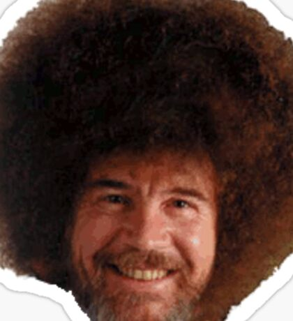 Bob Ross Head 'fro Sticker