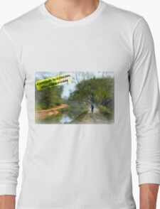 No Fixed Plans Travel Quote Collection  Long Sleeve T-Shirt