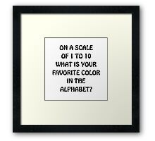 Favorite Color Alphabet Framed Print