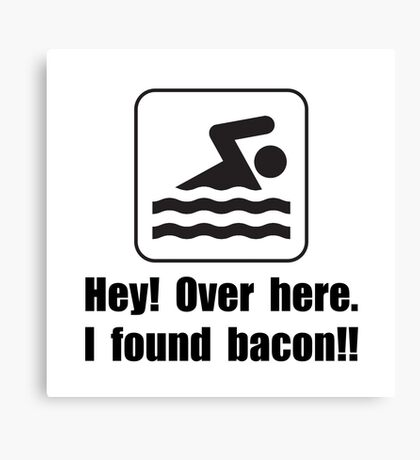 Found Bacon Canvas Print