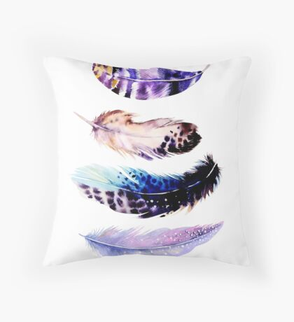 Feathery Delight Throw Pillow