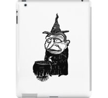 Abstract witch art print, cartoon paintings for sale iPad Case/Skin