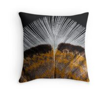 Winter Feathers Throw Pillow