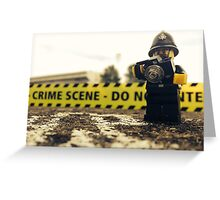 Lego Police Crime Scene Greeting Card