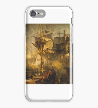 Joseph Mallord William Turner    The Battle of Trafalgar, as Seen from the Mizen Starboard Shrouds of the Victory iPhone Case/Skin