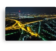 Vienna at night Canvas Print