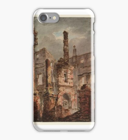 Joseph Mallord William Turner    The Interior of the Ruined Oxford Street Pantheon, iPhone Case/Skin