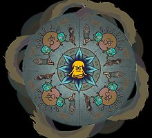 Meditating Jake Mandala - Adventure Time by jamielynncatton