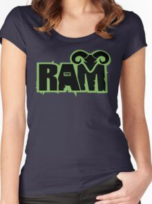 """Randy """"The Ram"""" Women's Fitted Scoop T-Shirt"""