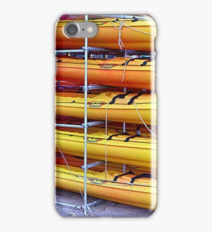 Stacked Canoes At Port de Soller iPhone Case/Skin