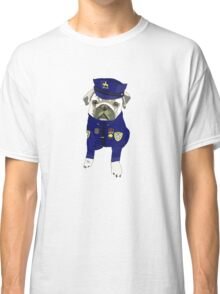 Police Pug - USA Cop Classic T-Shirt