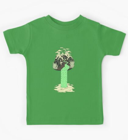 Levitating Island with a Source coming from nowhere Kids Tee