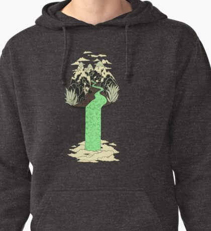 Levitating Island with a Source coming from nowhere Pullover Hoodie