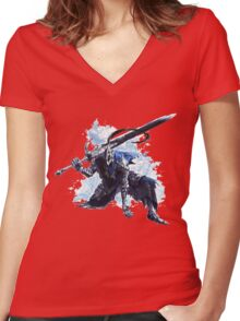 Artorias out of the abyss! Women's Fitted V-Neck T-Shirt