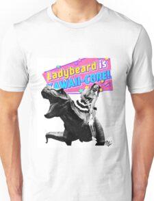 Ladybeard riding a T-Rex Unisex T-Shirt