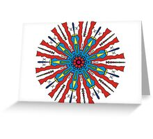 Spoked Red Greeting Card