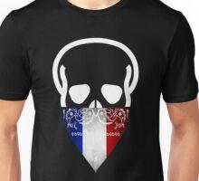 France Skull Gangster Unisex T-Shirt