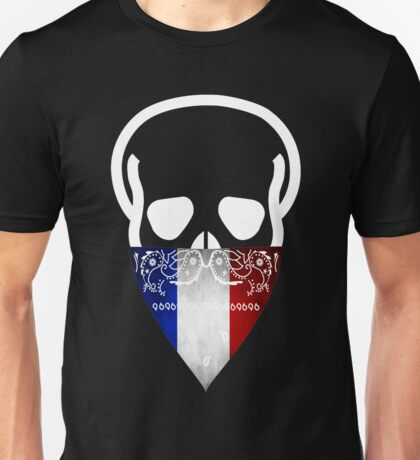 France Skull Gangster Unisex T-Shirt