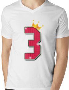 Third Birthday Boy Girl Little Kids Clothes 3rd Mens V-Neck T-Shirt