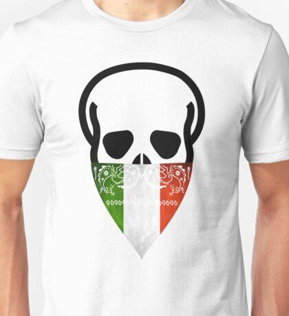 Italy Skull Gangster black  Unisex T-Shirt