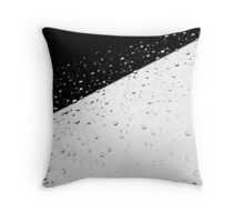 Black and White Water Throw Pillow