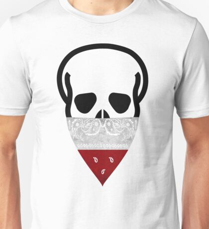 Poland Skull Gangster black Unisex T-Shirt