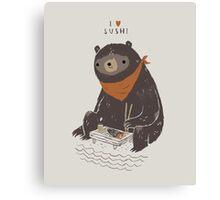 sushi bear Canvas Print