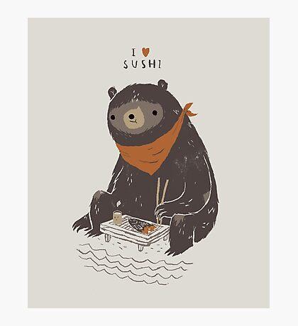 sushi bear Photographic Print