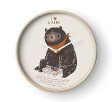 sushi bear Horloge