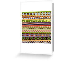 Tribal Aztec Patterns Greeting Card