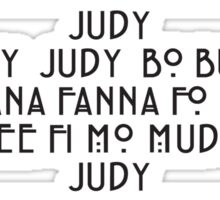 Judy  - The name game Sticker