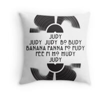 Judy  - The name game Throw Pillow