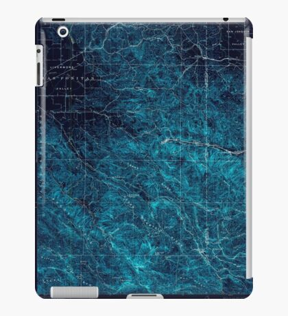 USGS TOPO Map California CA Tesla 301817 1907 62500 geo Inverted iPad Case/Skin