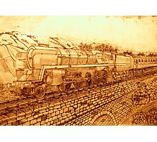A Sepia Version of The Last of the British Rail Steam Locomotives Photographic Print