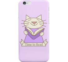 Time to Read Cat iPhone Case/Skin