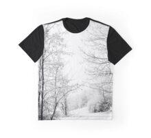 Winter wonderland black and white photography Graphic T-Shirt