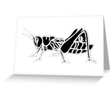 Grasshopper Silhouette Greeting Card