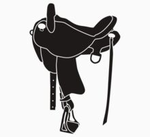 Western Theme - Saddle Silhouette by SandpiperDesign