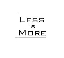 Less Is More by LadyFullmetal