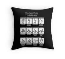 jeep wave guide lines Throw Pillow