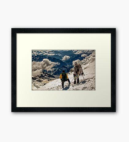 Guia en Mont Blanc Framed Print