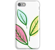 Pink Blue Yellow Leaves iPhone Case/Skin
