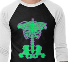 Awesome Bones Shocking Green Edition Men's Baseball ¾ T-Shirt