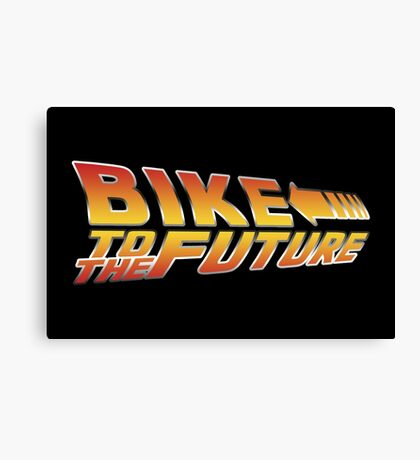 Bike To The Future Canvas Print