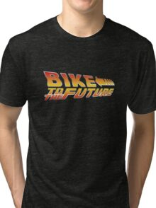 Bike To The Future Tri-blend T-Shirt