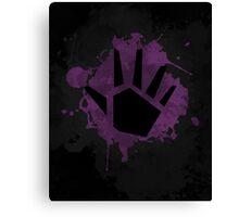 Prime Wave Beam (Splatter Black) Canvas Print