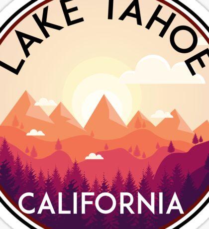 LAKE TAHOE CALIFORNIA SKIING SKI LAKE BOAT BOATING SNOWBOARD Sticker