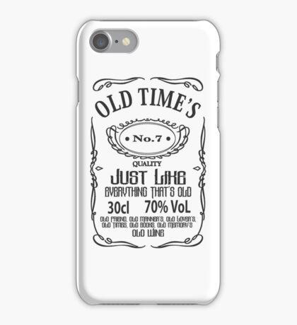 Old Times - Black iPhone Case/Skin